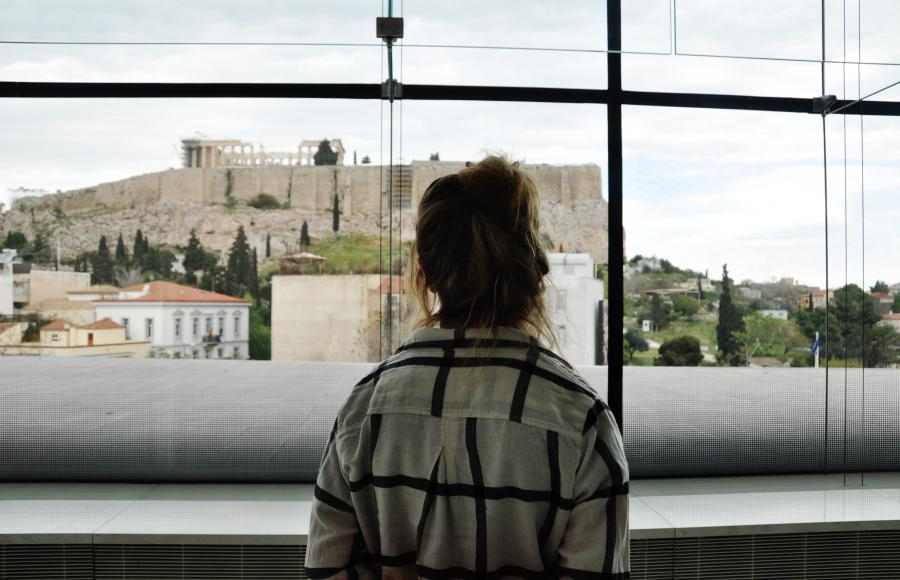 The Parthenon and the Acropolis from the new Acropolis Museum
