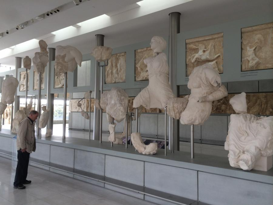 The Parthenon Gallery at the new Acropolis Museum